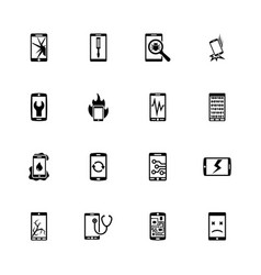 smartphone repair - flat icons vector image