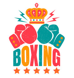 sport logo for boxing vector image