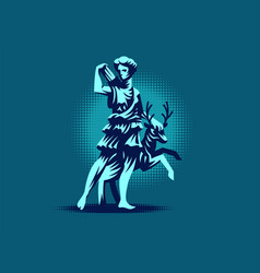 statue diana versailles vector image