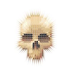 studded skull vector image