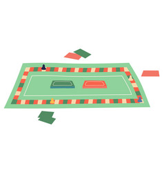 table game with cards playing chips monopoly vector image