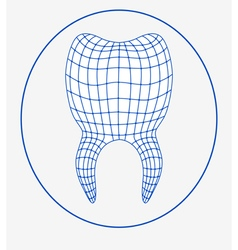 tooth 3d logo vector image
