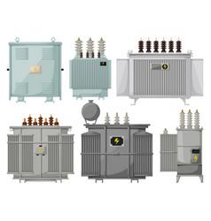 Transformer installation on white vector
