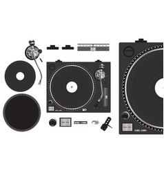 Turntable - black vector