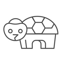 Turtle thin line icon simple silhouette of vector