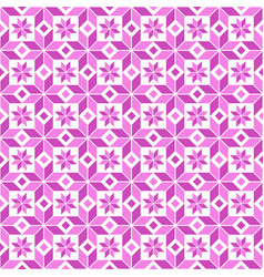 two-tone seamless pink geometric floral pattern vector image