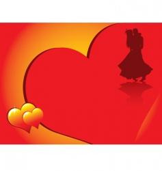 valentines dancing vector image