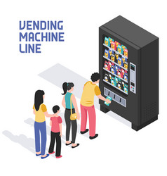 Vending machine isometric vector