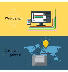 Web design and creative process concept vector