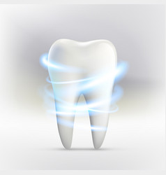 Whitening of human tooth vector