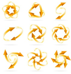 arrow circles vector image vector image
