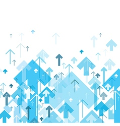 Blue Arrows Up Motion Up Successful Concept Cover vector image vector image
