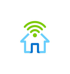 Home secure wifi logo vector