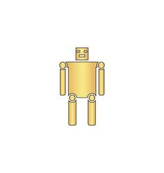 robot computer symbol vector image vector image