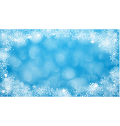 christmas background with frame of snowflakes vector image