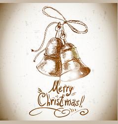 Christmas bell for retro design vector image