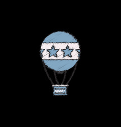 circus watercolor hot air balloon in hatching vector image vector image