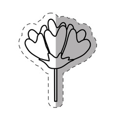 flower decoration image monochrome vector image vector image