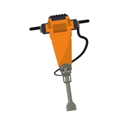 jackhammer construction tool design vector image