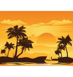 Palm Tree at Sunset5 vector image vector image