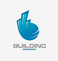 Real estate buildings logo template vector image