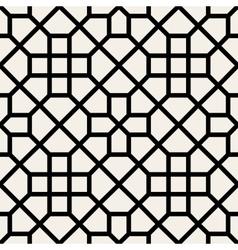 Seamless black and white geometric cross vector