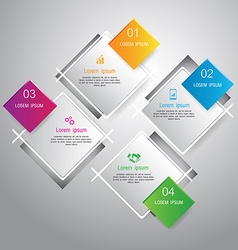 Squares template for infographic vector image vector image