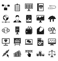 stag icons set simple style vector image