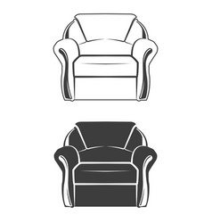 two comfortable armchair vector image vector image