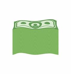Bundle money Big pile dollars vector image