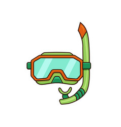 diving mask flat vector image vector image