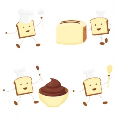 funny toasts vector image