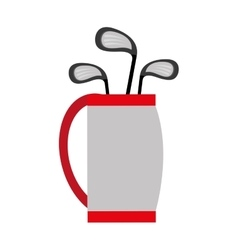 golf bag and bats graphic vector image vector image
