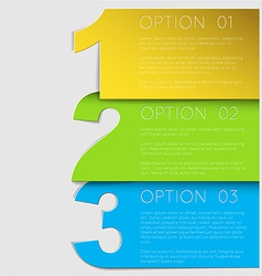 One two thre - progress background vector image