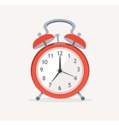 red wakeup clock Flat Design vector image vector image
