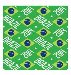 Seamless pattern Brazil 2014 vector image vector image