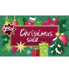 Christmas Sale Sign Design Concept vector image