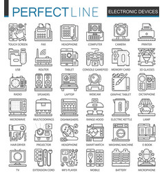 electronic device outline mini concept symbols vector image