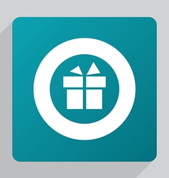 flat gift icon vector image