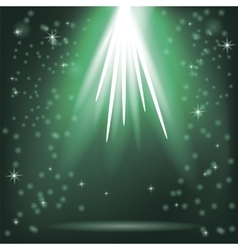 Green Rays of Magic Lights vector image vector image