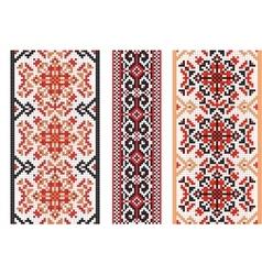 Ukrainian folk art Set of traditional embroidery vector image vector image