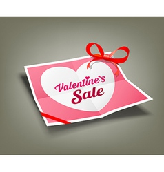 Valentines sale origami paper design vector image vector image