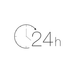 24 hours service icon vector image