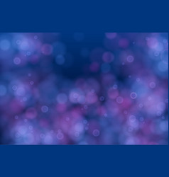 abstract defocused circular blue bokeh lights vector image