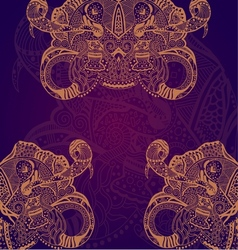 Abstract hand drawn grunge lace ornament vector image
