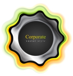 Abstract tech corporate logo design vector