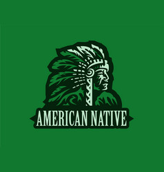 american indian vector image