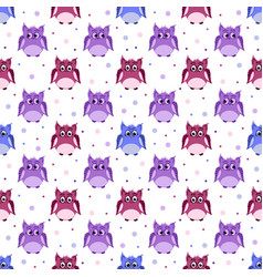 Angry strict surprised colorful owls vector