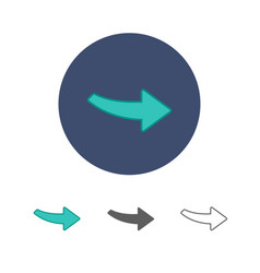 Arrow modern icon vector