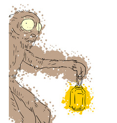 art monster vector image